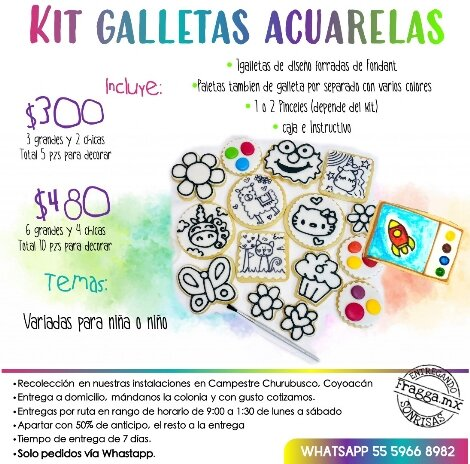 Especificaciones Kits Galletas Acurelas